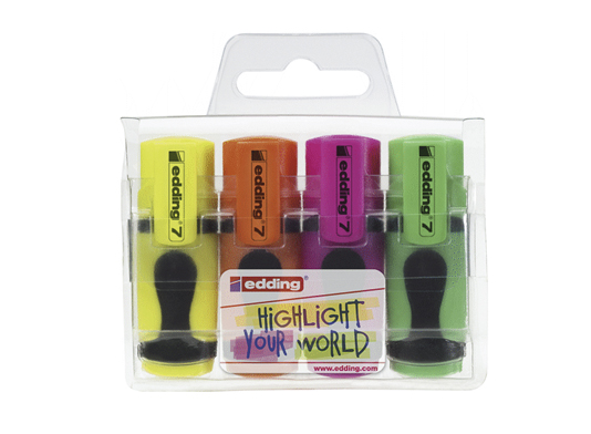 Mini Marcador Fluorescent Edding 7