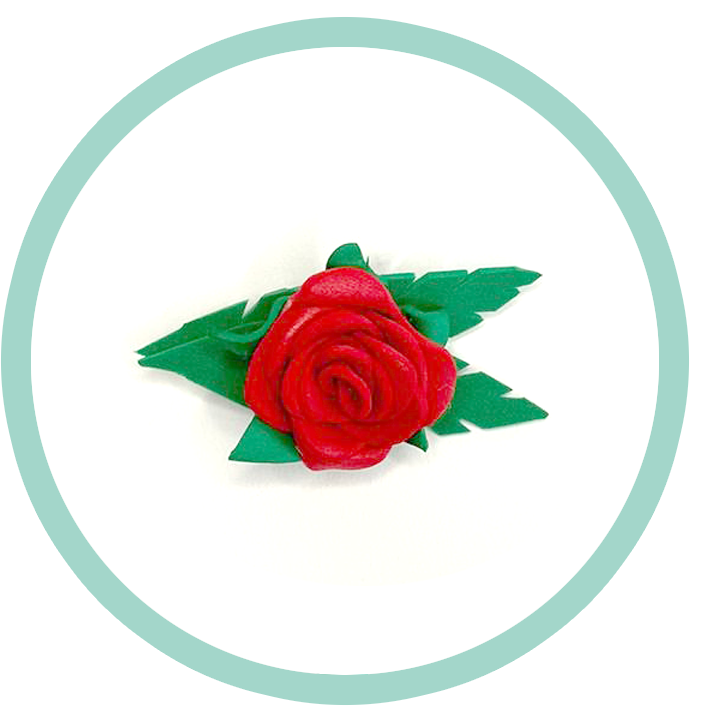 Rosa Sant Jordi de Goma Eva