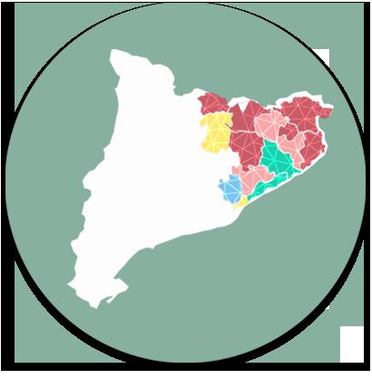 Mapa Catalunya - Zona comercials