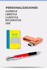 Personalización Agendas, Bolis y USB - Catálogo