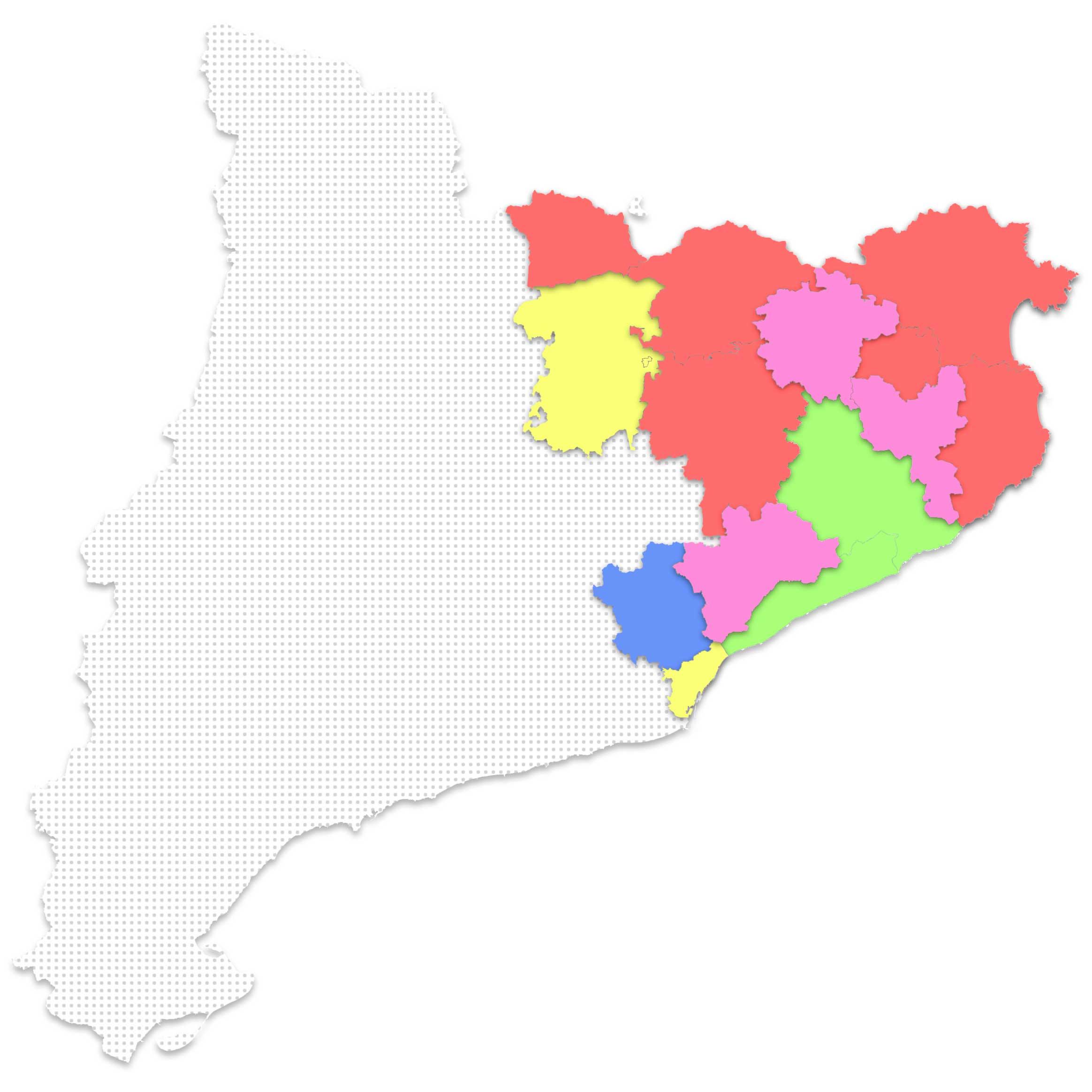 Mapa Catalunya - Zona Comercials Hiper Escola