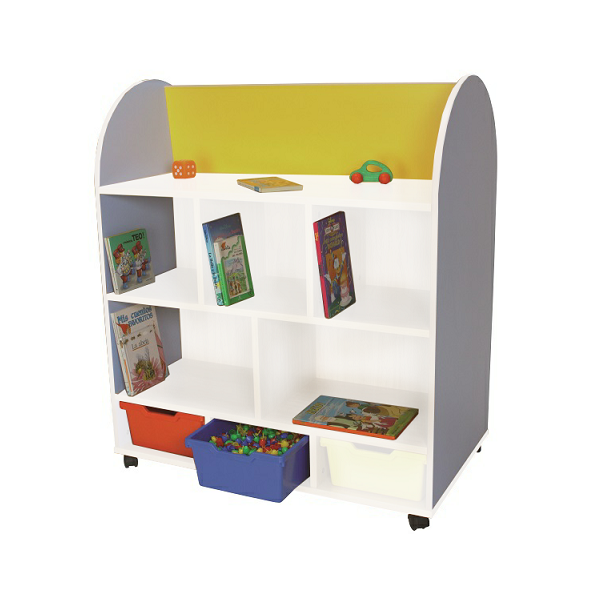 MOBLE EXPOS. LLIBRES BLANC OVAL. 2 CARES