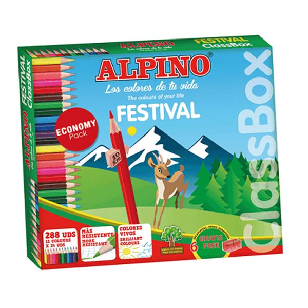 Llapis de Colors Pack Econòmic Classbox Alpino Festival