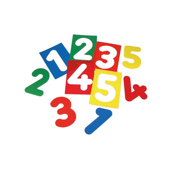 Siluetes de números Translúcids
