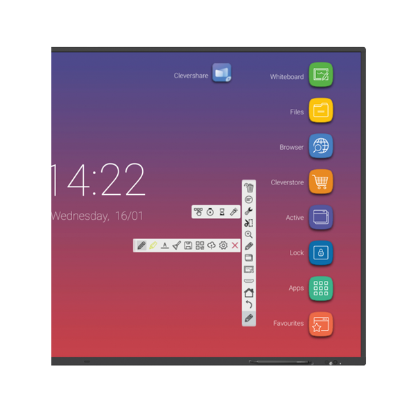 MONITOR INTERACTIU 65 CLEVERTOUCH IMPACT V2 4K ANDROID 8
